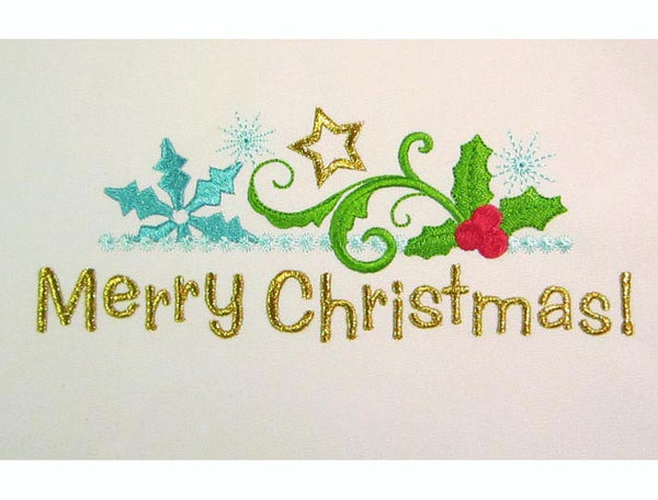 Merry Christmas  Frame Embroidery Designs CHR036