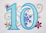 Ice Princess Number 10 Applique HB050