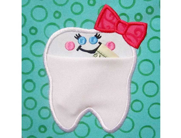 Fairy Tooth Real Pocket for Girl ITH Project ITH015