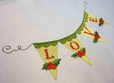 "Christmas ""Love"" Embroidery Design CHR017"