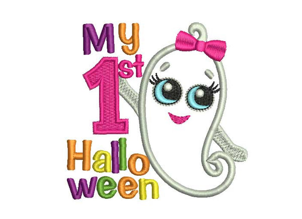 My First Halloween Applique for Baby Girl HAL009