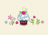 Cake Applique and Flowers Designs Set DE012