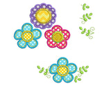 Flowers Applique Set Hand Stitch Embroidery Design FL003