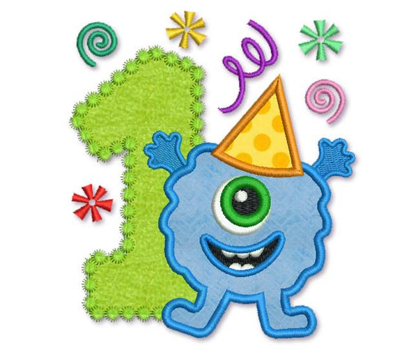Birthday Monster Applique HB006