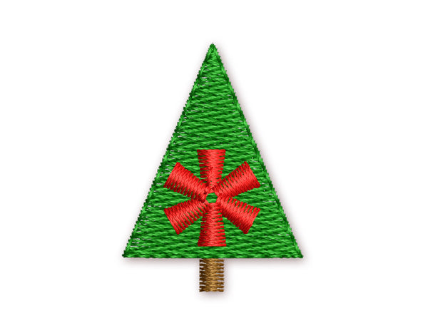 Christmas Tree Mini Embroidery Design M3