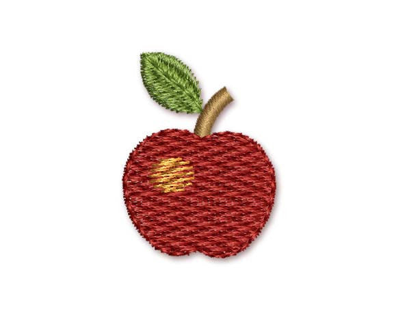 Apple Mini Feltie Embroidery Design M10