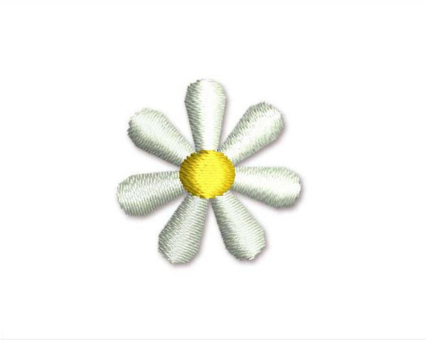 White Flower Mini Filled Embroidery Design M17