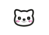 Kawaii Cat Mini Feltie Embroidery Design M9