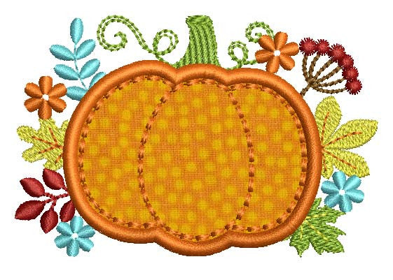 Pumpkin Thanksgiving Applique TG004