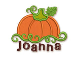 Thanksgiving Pumpkin Applique TG002