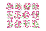 Cute Applique Alphabet AL010