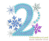 Ice Princess Number 2 Applique HB028