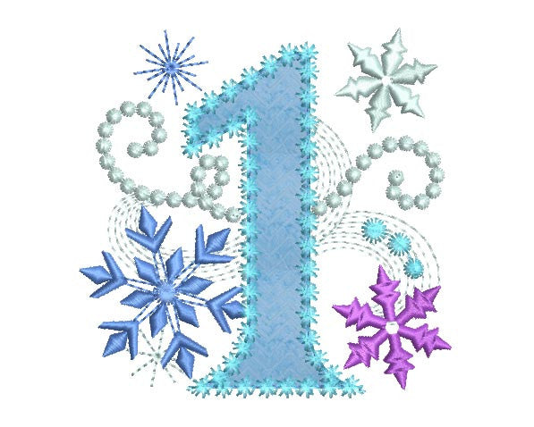 Ice Princess Number 1 Applique HB029
