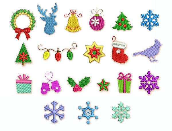 20 Christmas Mini Designs Set M26