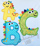 Dino Applique Alphabet AL086