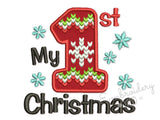 My 1st Christmas Knitted Ornate Applique CHR088