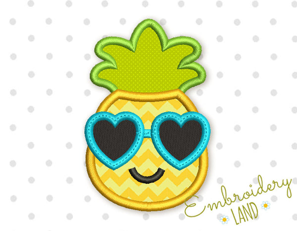 Funny Pineapple Applique DE042