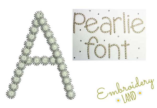 "Letter A ""Pearlie"" Free Design FD001"