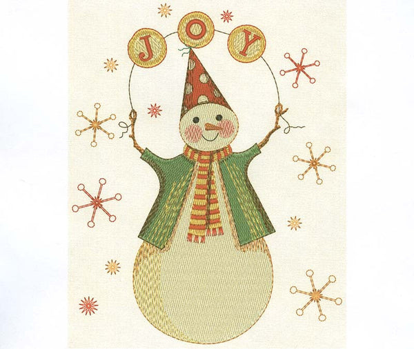 Snowman Christmas Embroidery Design  CHR016