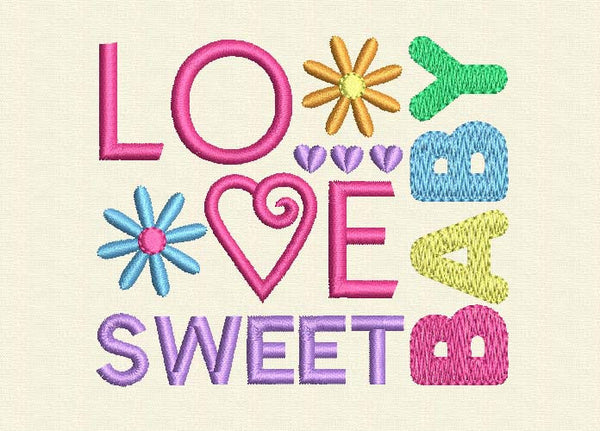 Love Baby Sweet Embroidery Design BA005