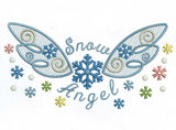 Snow Angel Baby Cloth Embroidery Design CHR011
