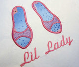 Shoes for The Little Lady Applique BA008