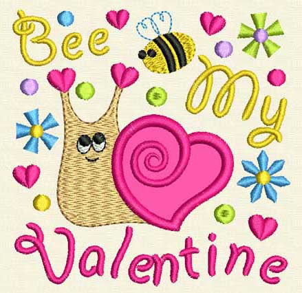 Be My Valentine's Applique VA006