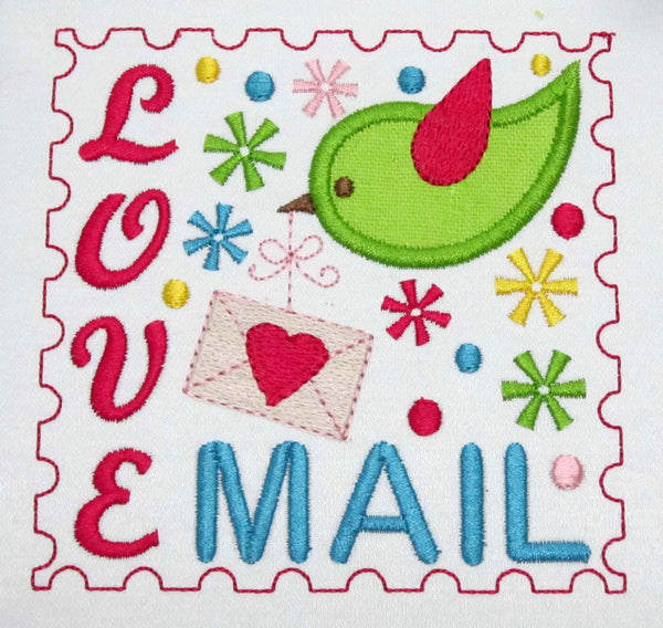Love Mail Applique VA011