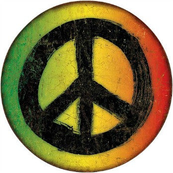 rasta reggae peace metal sign retro nostalgic wall decor turn retro