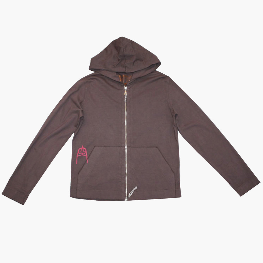 Unisex Heavy Jersey Raw Edge Double Zip Hoody with Clouds - Ku Brands