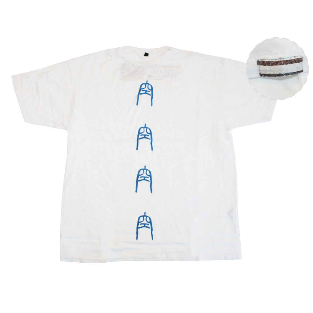 Mens Supima Baby Jersey Cotton Tee with Ku Kanji Logo