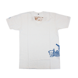 Mens Short Sleeve V Neck Tee with Koi Fish