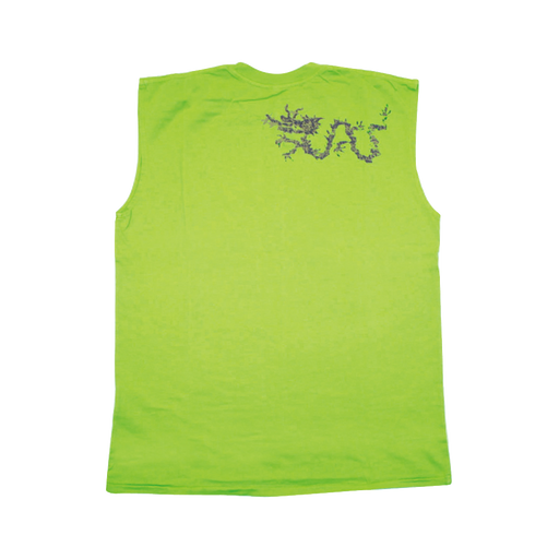 Mens Sleeveless Tee with Ku Bell and Dragon