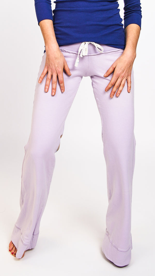 Ku Ladies Lotus Pants Lavender Front