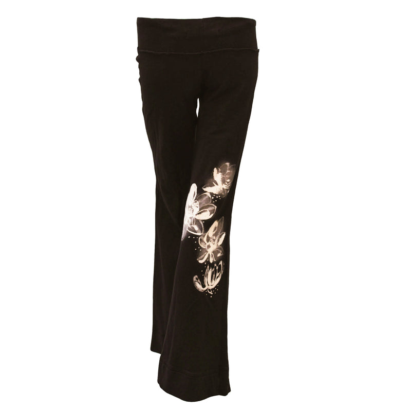 Ku Ladies Lotus Pants, French Terry Pants for excercise Black