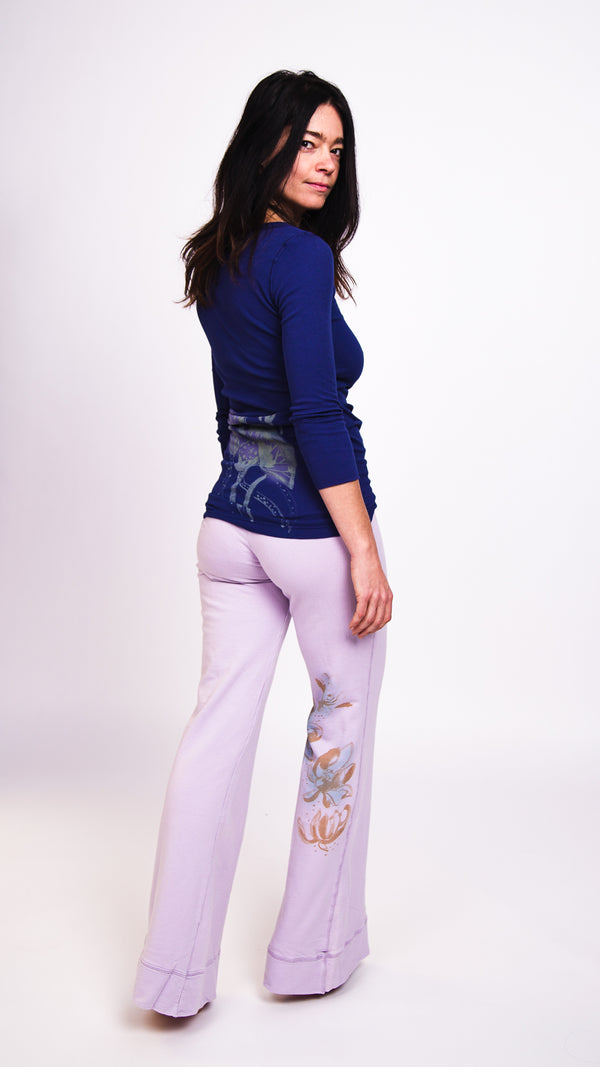 Ku Ladies Lotus Pants Lavender