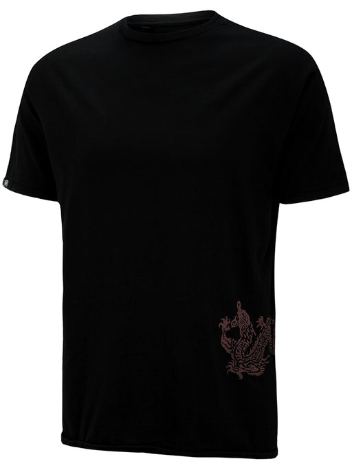 Mens Supima Baby Jersey Cotton Tee with Fire Dragon - Ku Brands