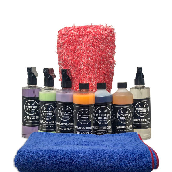 Deluxe Wash & Dry Kit - Monstershine Car  Care