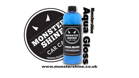 Monstershine Car Care Aqua Gloss is a highly effective tyre dressing that leaves an outstanding glossy finish for weeks.