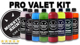 Pro Valet Kit 9 500ml Bottles - Was £75.48  Now £40.00 - Monstershine Car  Care