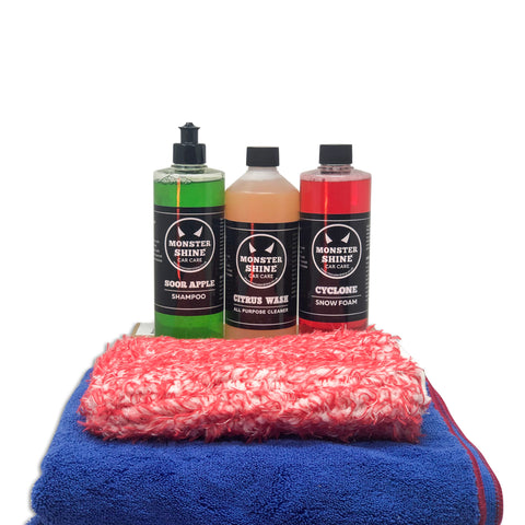 Pre Wash, Wash & Dry Kit - Monstershine Car  Care