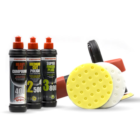 DAS 6 Pro Dual Action Machine Polisher Menzerna Pack with Lake Country CCS Pads - Monstershine Car  Care