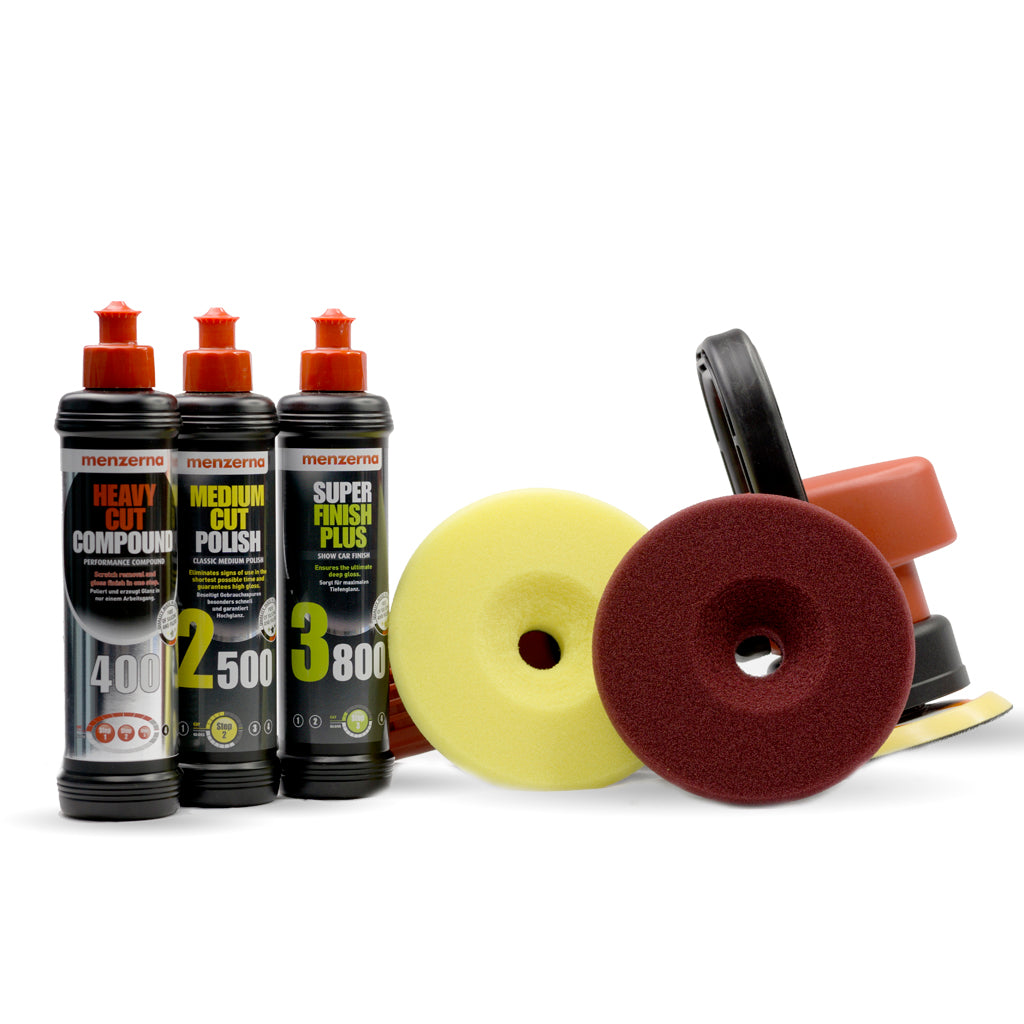 DAS 6 Pro Dual Action Machine Polisher Menzerna Pack with Liquid Elements Centriforce Pads - Monstershine Car  Care
