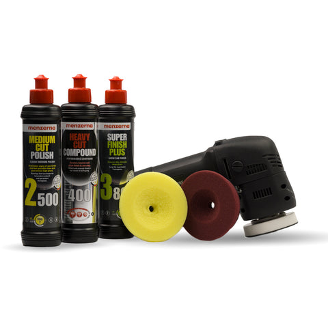 DA3 Dual Action Polisher Menzerna Pack with Liquid Elements Centriforce Pads - Monstershine Car  Care