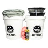Monstershine Wash and Rinse Buckets  Grit Guards Kit Bronze - Monstershine Car  Care