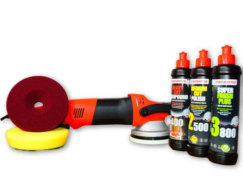 Forced Rotation DA Polisher Menzerna Pack with Liquid Elements Pads - Monstershine Car  Care
