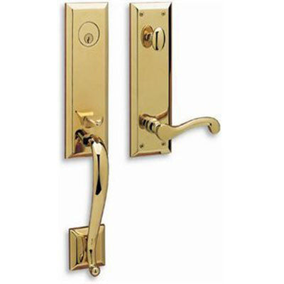 Profile View of Door Handle Molding, product number Baldwin 85355.003.RFD Right-Handed Dummy Handleset/Lifetime Polished Brass - $250.00 sold by American Wood Moldings