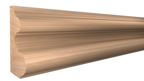 "BA-400-204-1-RO - 2-1/8"" x 4"" Red Oak Base - $11.72/ft"