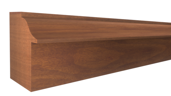 "BB-106-102-1-HMH - 1-1/16"" x 1-3/16""  Honduras Mahogany Backband - $3.08/ft"