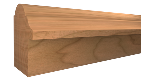 "Profile View of Backband Molding, product number BB-116-102-1-CH - 1-1/16"" x 1-1/2"" Cherry Backband - $2.40/ft sold by American Wood Moldings"